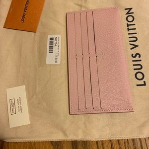 🌸Authentic Louis Vuitton Pink Credit Card Holder